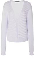 Wes Gordon Ivory Cotton Cashmere V-Neck Pullover