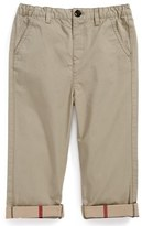Burberry Infant Boy's 'Ricky' Check Lined Roll Cuff Pants
