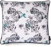 Susannah Weiland Collections Large Green Frogs On A Lily Pad Hand Embroidered & Beaded Cushion