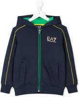 Armani Junior hooded zipped jacket