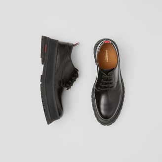 Burberry Logo Detail Leather Derby Shoes