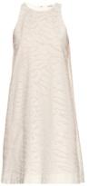 Vince Burnout-camouflage cotton and silk-blend dress
