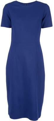 Carolina Herrera short sleeve crewneck sheath dress