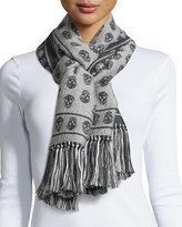 Alexander McQueen Skull-Print Cold Weather Scarf