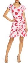 Julia Jordan Floral Ruched Sheath Dress