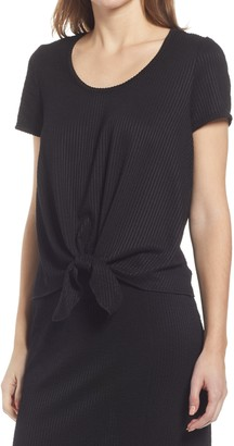 Everleigh Rib Tie Front Top