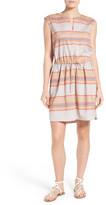 Caslon Drawstring Sleeveless Linen Dress