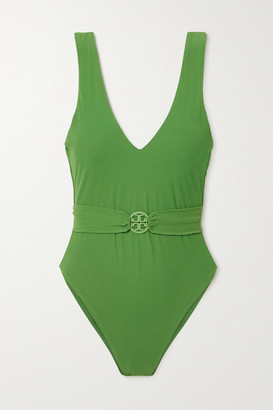 Tory Burch Miller Belted Swimsuit - Green