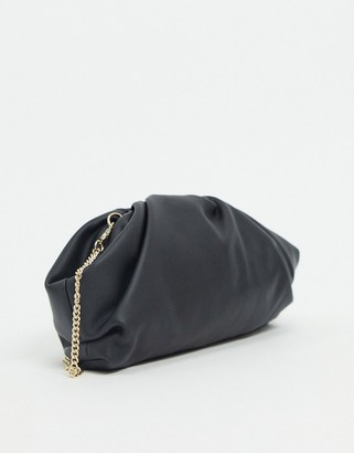 Forever New gathered clutch bag in black