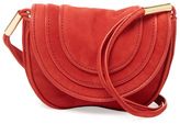 Diane von Furstenberg Mini Nubuck Saddle Crossbody
