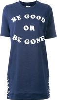 Zoe Karssen slogan print T-shirt dress - women - Cotton/Polyester - M