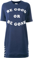 Zoe Karssen slogan print T-shirt dress - women - Cotton/Polyester - XS