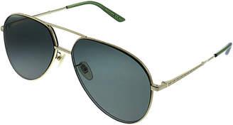 Gucci Unisex Pilot Gg0356s 61Mm Sunglasses