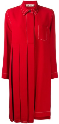 Marni Pleated Shirt Dress