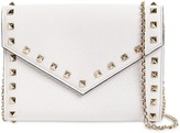 Rockstud Smooth Leather Chain Wallet
