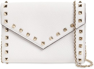 Valentino ROCKSTUD SMOOTH LEATHER CHAIN WALLET