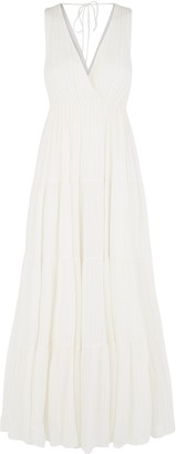 Traffic People Sleeveless Mellow Maxi Dress In White