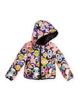 Fendi Floral Hooded Monster-Print Reversible Jacket, Multicolor, Size 10-12+