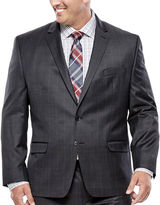 COLLECTION Collection by Michael Strahan Charcoal Windowpane Suit Jacket - Big & Tall