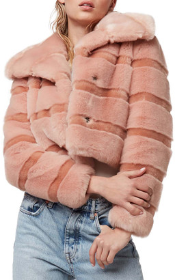 Diane von Furstenberg AS by Stardust Faux-Fur Chubby Coat