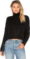 Autumn Cashmere Boxy Mock Neck Crop Sweater