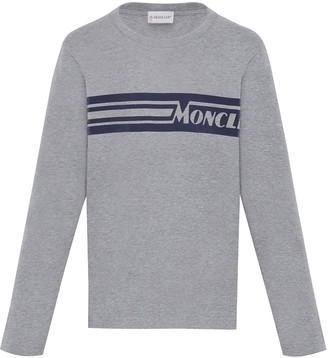Moncler Girl's Colorblock Logo T-Shirt, Size 8-14