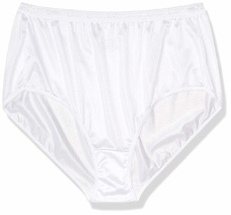 Just My Size Women's Plus Size Cool Comfort Nylon Brief 6-Pack