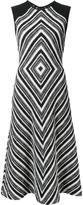 Martin Grant geometric pattern flared dress - women - Cotton/Polyamide/Polyester/Virgin Wool - 38