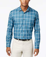 Alfani Men's Cotton Grid-Pattern Shirt, Only at Macy's