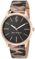 Juicy Couture Black Label Women's Rose Gold-Tone and Camouflage Pattern Mesh Bracelet Watch