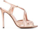 L'Autre Chose contrast stitching sandals
