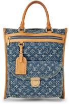 Louis Vuitton Blue Denim Monogram Flat Shopper Tote