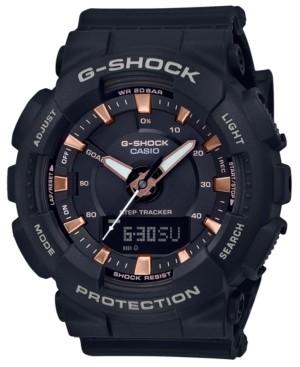 G-Shock Women's Analog-Digital Step Tracker Black Resin Strap Watch 49.5mm
