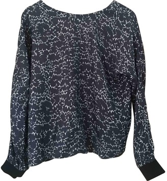 Surface to Air Black Silk Top for Women