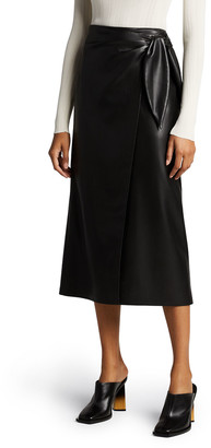 Nanushka Amas Faux-Leather Wrap Skirt