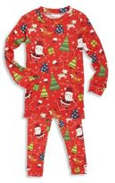 Books To Bed Toddler's & Little Boy's Three-Piece Snuggle Moon Christmas Pajama and Socks Set