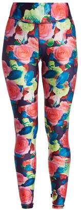 Terez Floral Fantasy Tall Band Leggings