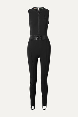 Moncler Belted Stirrup Stretch Ski Suit - Black