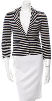 Tory Burch Striped Notch-Lapel Blazer