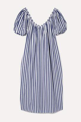 Mara Hoffman Net Sustain Romina Oversized Striped Organic Cotton Midi Dress - Blue
