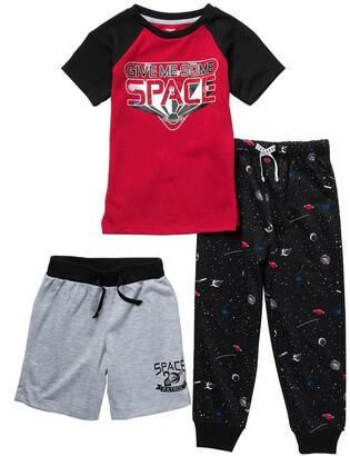 Dream Life Space Print 3-Piece Pajama Set
