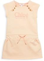 Chloé Baby's & Little Girl's Cap-Sleeve Logo Dress