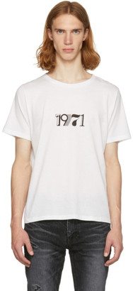 Saint Laurent White 1971 T-Shirt