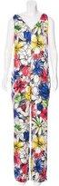 Moschino Silk Floral Print Jumpsuit