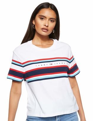 Tommy Jeans Women's TJW Stripe Logo TEE T-Shirt