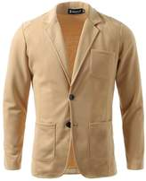 uxcell Men Notch Lapel Single Breasted Long Sleeve Casual Blazer L