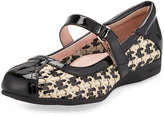 Taryn Rose True Mary Jane Traveler Slip-On, Bone/Black