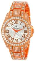 Burgmeister Bollywood Women's Quartz Watch with Silver Dial Analogue Display and Orange Bracelet BM159-010A