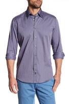 Robert Talbott Striped Print Trim Fit Sport Shirt