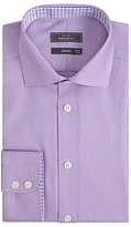 John Lewis Non Iron Puppytooth Regular Fit Shirt, Lilac